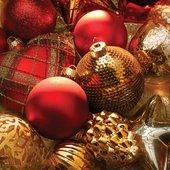 Салфетки для декупажа Новогодние игрушки 33x33см, 3 слоя, 20шт Paw SDL680000