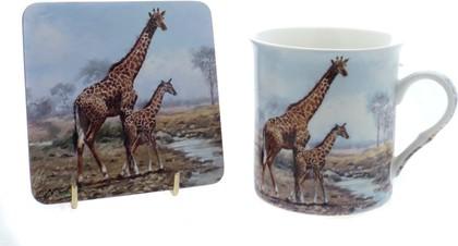 """Кружка с подставкой """"Жирафы"""" The Leonardo Collection LP91565"""
