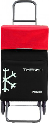 Термосумка-тележка хозяйственная чёрная с красным Rolser RG THERMO TER037negro/rojo