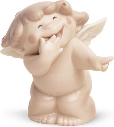 Статуэтка фарфоровая Смеющийся ангелочек (You're So Funny!) 8см NAO 02005016