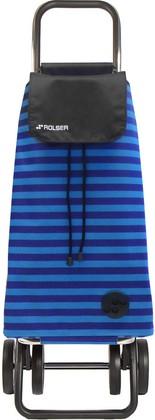 Сумка-тележка хозяйственная сине-чёрная Rolser LOGIC DOS+2 PAC039azul