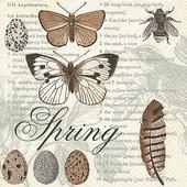 Салфетки Весна библиотека, 33x33см, 20шт Paper+Design 200022