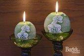 """Свеча """"Орхидея"""", шар, диаметр 8см Bartek Candles 185041"""