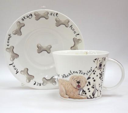 Чайная пара для завтрака Собаки на прогулке 500мл Roy Kirkham XWAL1110