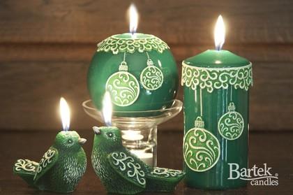 """Свеча """"Новогодние игрушки"""", шар, диаметр 8см Bartek Candles 150041"""