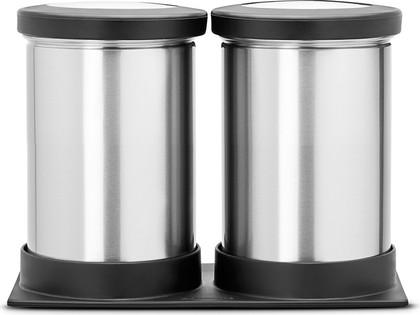 Набор контейнеров с прозрачной крышкой на подставке 0.5л матовая сталь Brabantia 415623