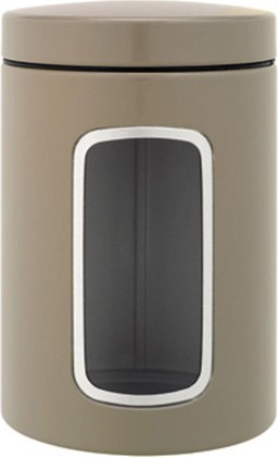 Контейнер с окном 1.4л, стальной серо-коричневый Brabantia 425189