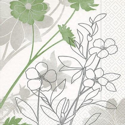 Салфетки для декупажа Нежность, 33x33см, 3 слоя, 20шт Paper+Design 21808