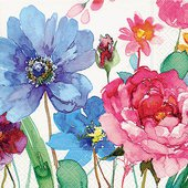 Салфетки для декупажа Красочные цветы, 33x33см, 3 слоя, 20шт Paper+Design 21706