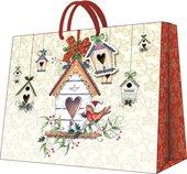 """Пакет подарочный """"Зимний дом"""" 25x20x10см Paw AGB003518"""