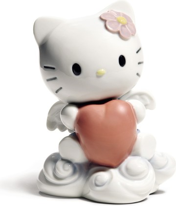 Статуэтка фарфоровая От всего сердца HELLO KITTY! (From The Heart) 12см NAO 02001696