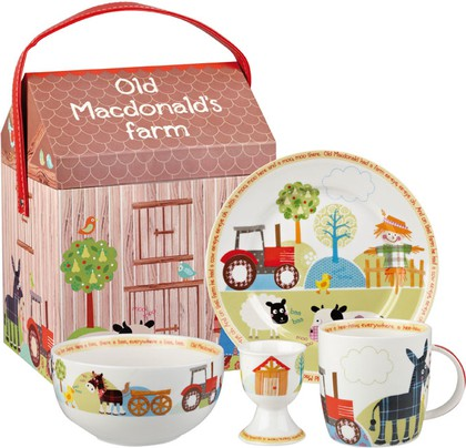 Набор для завтрака Ферма старого Макдональда, 4 пр. Queens OLDM00031