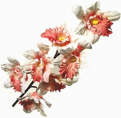 Top Art Studio Орхидея Каттлея, коралловая, высота 73см, артикул HSD0312-TA
