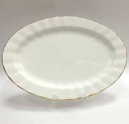 Блюдо овальное Золотая лента, ф. Нега ИФЗ 80.70484.00.1