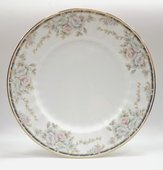 Тарелка мелкая Весенний букет 25см Porcelaine Czech Gold Hands LUISA14102TM25x1