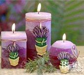 "Свеча ""Лаванда"", пирамида 7х7х24см Bartek Candles 140031"