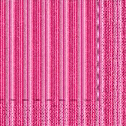Салфетки для декупажа Розовая полоса, 33x33см, 3 слоя, 20шт Paper+Design 21746