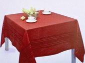 Скатерть Красная 150x150см Белорусский лён 15c297/150x150/1/587
