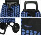 Сумка-тележка хозяйственная чёрно-синяя Rolser RG MOUNTAIN MOU047azul/negro