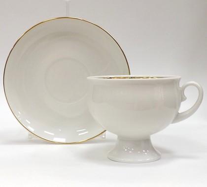 Чашка с блюдцем Золотой кантик, ф. Классическая ИФЗ 81.15302.00.1