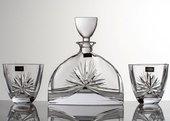 """Набор для виски """"Нэмо"""" (Машле Бант) графин 700мл + 2 стакана 320мл Crystalite Bohemia 99999/9/17131/128"""