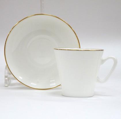 Чашка с блюдцем Золотой кантик, ф. Чёрный кофе ИФЗ 81.14441.00.5