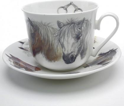 """Чайная пара """"Лошади"""", Chatsworth, 480мл Roy Kirkham XHORH1100"""