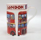 Кружка Лондонский автобус, Седар, 350мл James Sadler JSLC00181