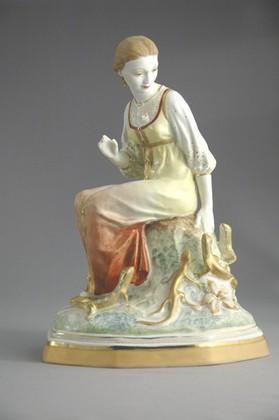 Скульптура Малахитница № 1395а, Дулёвский фарфор ДС1754