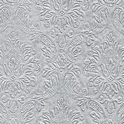 Салфетки для декупажа Орнамент серебро, 33x33см, 3 слоя, 16шт Paper+Design 24047