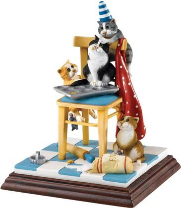"""Статуэтка """"Коты кондитеры"""" (Domestic Goddess), (ограниченный тираж 500 шт), 18.5см Enesco A25212"""