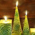 """Bartek Candles SAMBA Свеча """"Бутон"""", пирамида 70х70х240мм, артикул 5907602671773"""