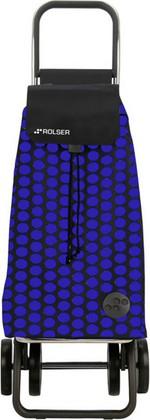 Сумка-тележка хозяйственная чёрная с синим Rolser DOS+2 MOU055azul/negro