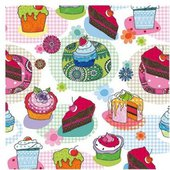 Салфетки Вкусные кексы, 33x33, 20шт Paw SDL841000