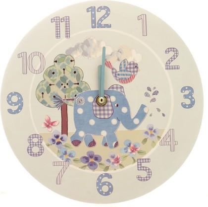 """Часы для мальчика """"Слоненок Элли и птичка"""" d26см The Leonardo Collection LP33120"""