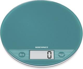 Весы электронные кухонные круглые бирюзовые 5кг/1гр Soehnle Flip Pacific 66187