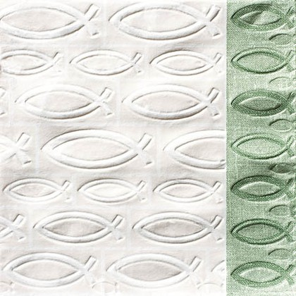 Салфетки для декупажа Ихтис, 33x33см, 3 слоя, 16шт Paper+Design 24006