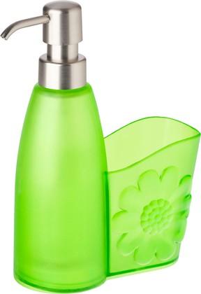 Дозатор моющего средства с подставкой для губки, зелёный Vigar Cool 6004