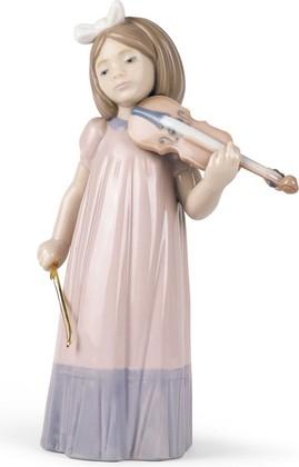 Статуэтка фарфоровая Девочка со скрипкой (Girl With Violin) 19см NAO 02001034