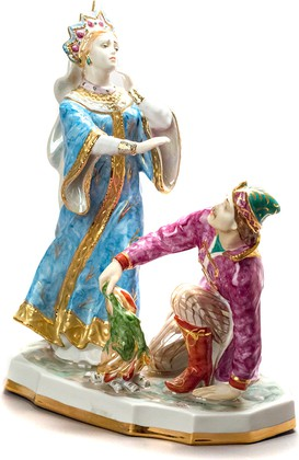 Скульптура Царевна-лягушка, Дулёвский фарфор ДС816