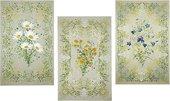 """Набор льняных полотенец """"Полевые цветы"""" 3 шт. 45x70см Белорусский лён 14c204/138/0"""