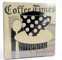 """Подставки под стакан """"Время пить кофе"""" 12x12см, 4шт Creative Tops 5113208"""