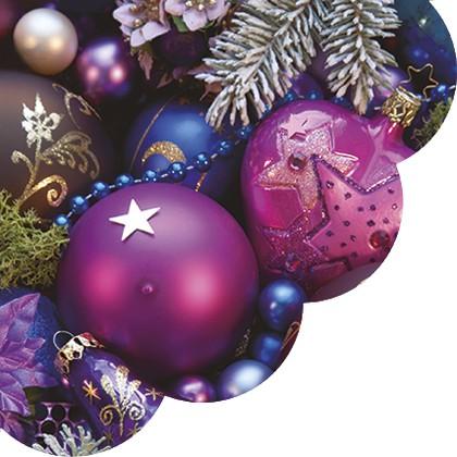 Салфетки круглые Фиолетовая композиция 32см, 3 слоя, 20шт Paw SDR080700