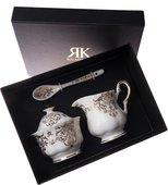 "Набор сахарница, молочник, чайная ложка ""Букингемский дворец"" Roy Kirkham XBUCK1249"