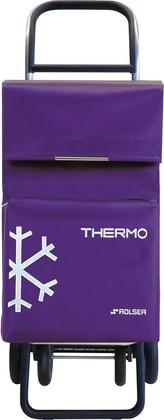 Термосумка-тележка хозяйственная фиолетовая Rolser QUATTRE.2 THERMO TER039more
