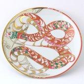 Тарелка декоративная Змей-бороро, ф. Эллипс ИФЗ 80.75106.00.1