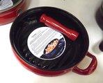 Сковорода-гриль, керамика, красная, крышка, 2.0л, 22см Ceraflame TERRINE F27516422