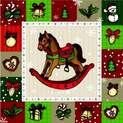 "Paw ROCKING HORSE Салфетки ""Лошадка"", 33х33см, 3 слоя, 20шт., артикул SDL150000"