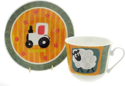 """Чайная пара для завтрака """"Забавная ферма"""" 500мл Roy Kirkham COFUN1101"""