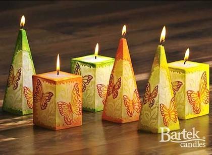 "Bartek Candles BUTTERFLY Свеча ""Бабочка"" - образ коллекции, блок 70х70х140мм, артикул 5907602668834"